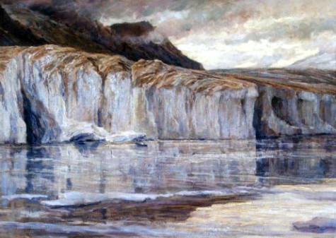 Carlo Cressini, Le gelide acque del lago di Märjelen, 1908 ca. olio su tela, cm 106 x 198, dono di Angela Locatelli