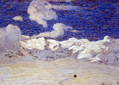Cesare Maggi, Neve, 1909 olio su tavola, cm 26,5 x 37,5