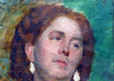 Daniele Ranzoni, Testa di donna, 1864 olio su carta, cm 22 x 27