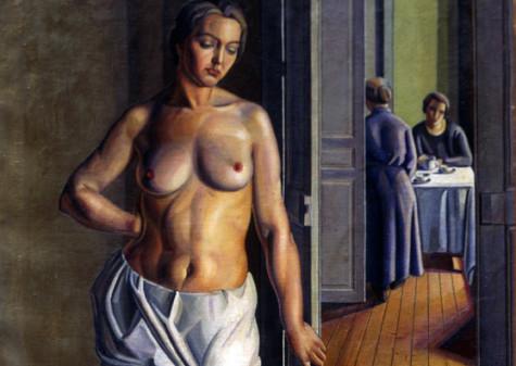 Mario Tozzi, La toeletta del mattino, 1922 olio su tela, cm 160 x 114, dono di Arnaldo Tozzi
